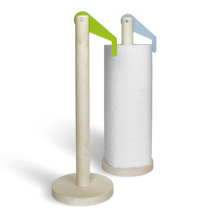 side by side - Paper Towel Holder, green, iceblue