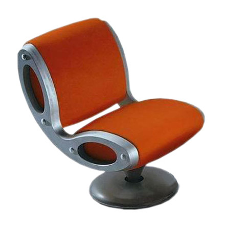 Moroso - Gluon Lounger, Cod.0V7 / Cover Tonus 605 orange, single image