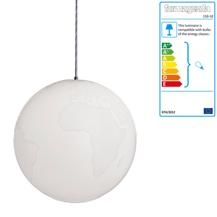 Formagenda - Planet Earth pendant light