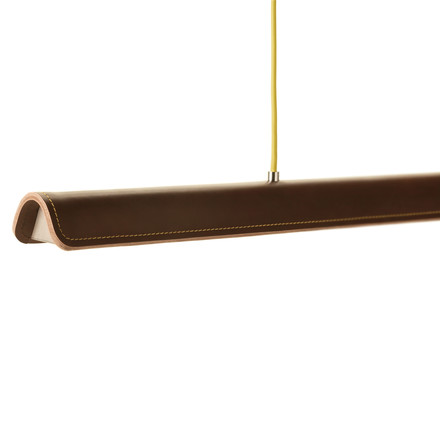Formagenda - Cohiba pendant light, brown/ lime