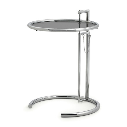ClassiCon - Adjustable Table E1027, smoked glass