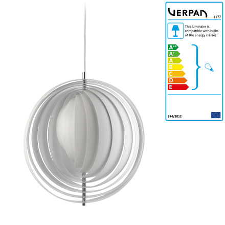 Verpan - Moon pendant lamp, large, single image