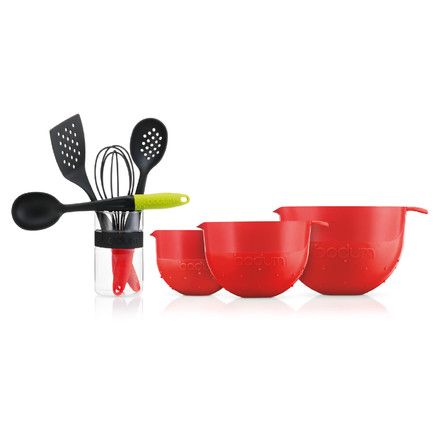 Bodum - Bistro Mixing Bowl, Serving Spoon, Whisk, ...