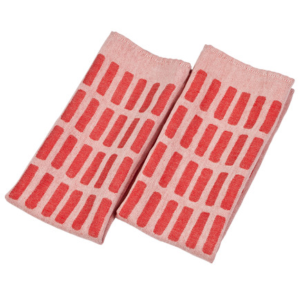 Artek - Siena tea towel, set of 2, red / white