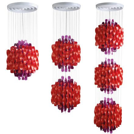 Verpan - Spiral SP1-3 pendant lamp, multicolour