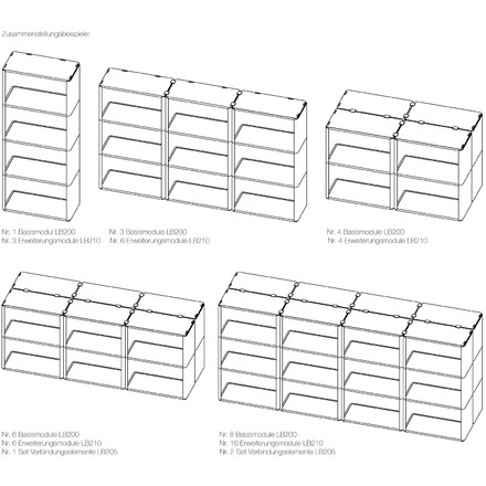 Magis - Cosino Shelving System - compilation examples