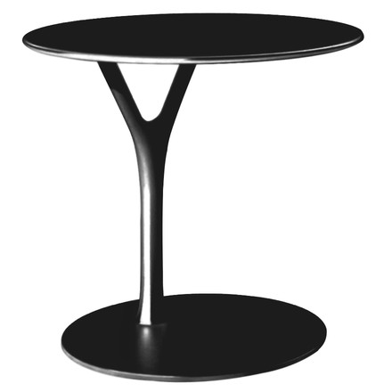 Frost - Wishbone Table, 450 mm, black, single image