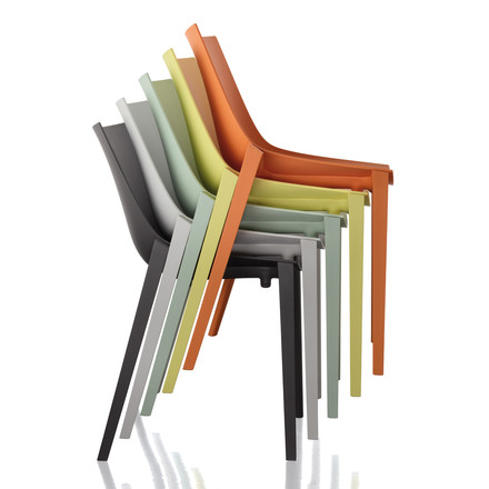 Magis - Zartan Chair Basic - group, all colours, stacked