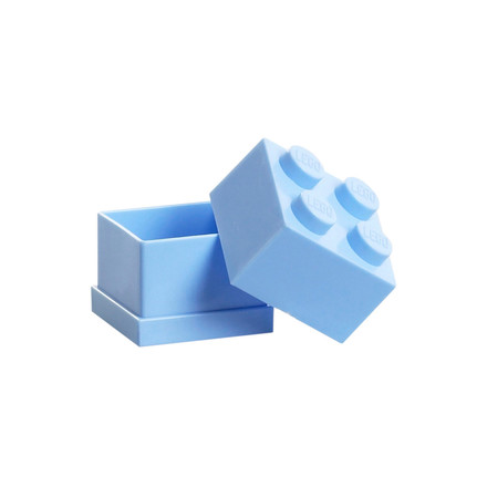 Lego - Mini-Box 4, light blue - open