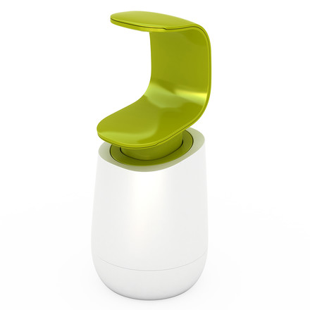 Joseph Joseph - C-pump soap dispenser, white/ green, single image