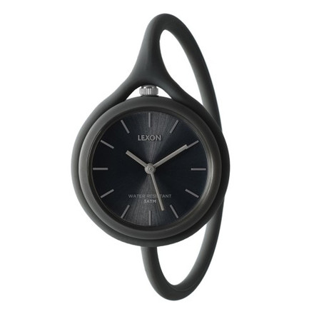 Lexon - Take Time watch, black, single image