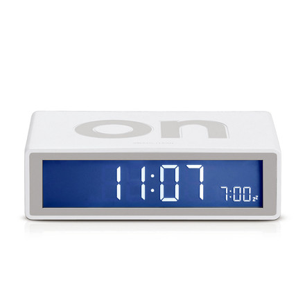 Lexon - Flip LCD-alarm clock, white, single image