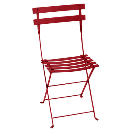 Fermob - Bistro folding chair metal, poppy red, single image