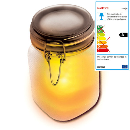 Suck UK - Sun Jar, yellow, single image