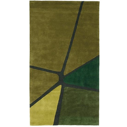 Ruckstuhl - Crack carpet, olive green