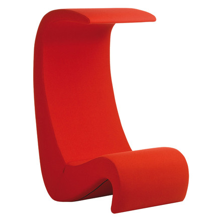 Vitra - Amoeba Highback chair, red, single image