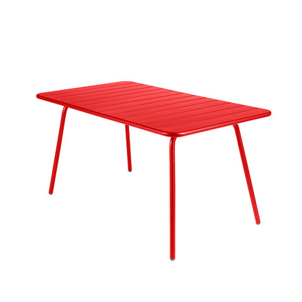 Fermob - Luxembourg Table, rectangular, poppy, single image