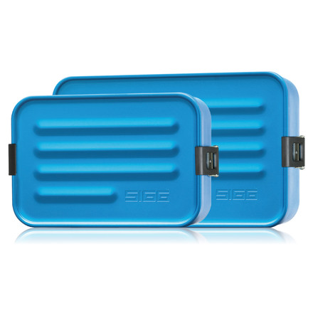 SIGG - Aluminum Lunch Box, Metallic Blue - both sizes