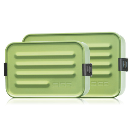 SIGG - Aluminum Lunch Box, Metallic Green - both sizes