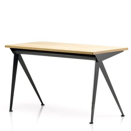 Vitra - Compas Direction Table, natural oak wood/ black, single image