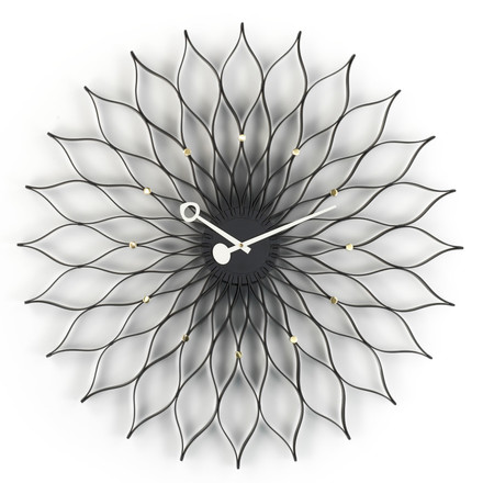 Vitra - Sunflower Clock, schwarz/ messing, single image