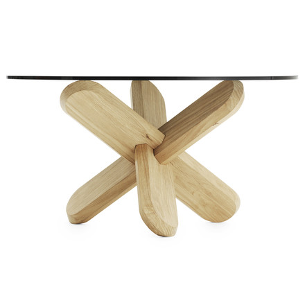 Normann Copenhagen - Ding Couch table, smoked, oak - lateral, single image