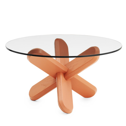 Normann Copenhagen - Ding Couch table, glass, coral, single image