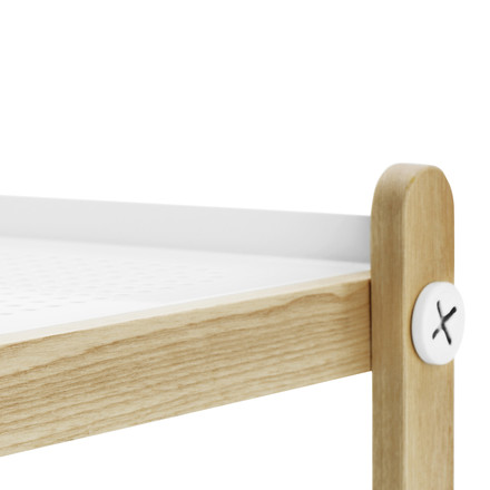 Normann Copenhagen - Sko shoe rack, white - edge, surface, details image