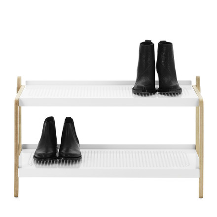 Normann Copenhagen - Sko shoe rack, white - with shoes, single image