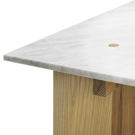 Normann Copenhagen - Solid Couch table - edge, marble
