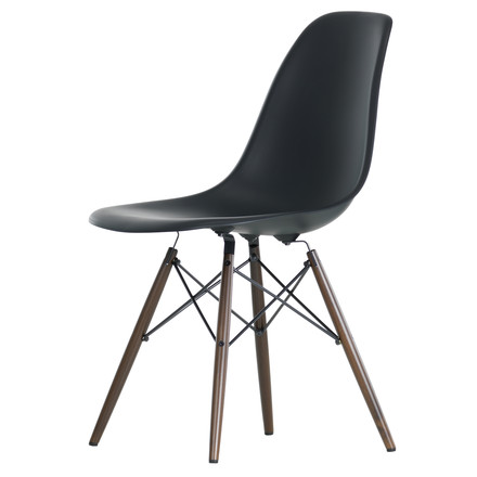 Vitra - Eames Plastic Side Chair DSW, dark maple / basic dark