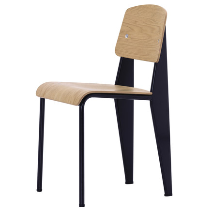 Vitra - Standard Chair, bright oak wood, black, single image