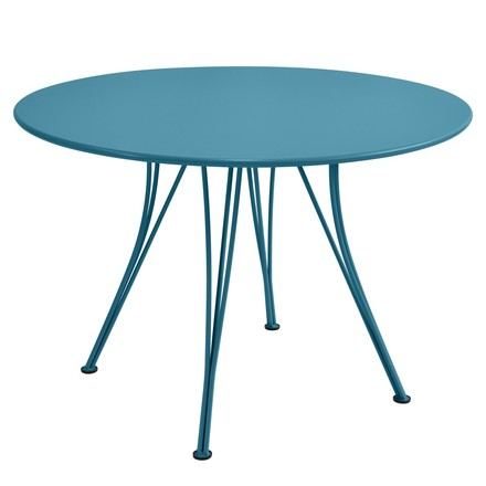 Fermob - Rendez-Vous table round, 110cm, turquoise, single image