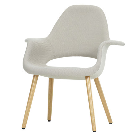 Vitra - Organic Chair, light grey / natural oak wood