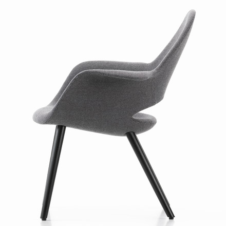 Vitra - Organic Chair, nero / black ash wood - lateral
