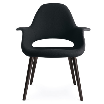 Vitra - Organic Chair, nero / black ash wood, single image