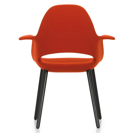 Vitra - Organic Conference Chair, red/ black ash wood - back