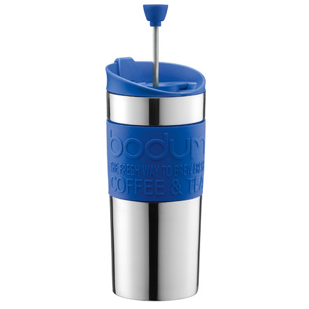 Bodum - Travel Press - stainless steel, 0.35 L, blue