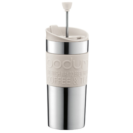 Bodum - Travel Press - stainless steel, 0.35 L, off white, single image