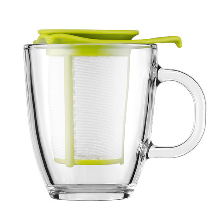 Bodum - Yo-Yo Set - Glass cup, plastic filter 0.35l, lime
