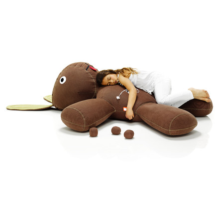 Fatboy, rabbit XS - Situation with girl, sleeping, brown / sleeping