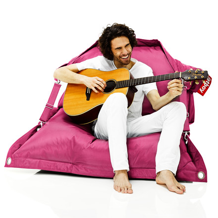 fatboy Outdoor, pink with man and guitar