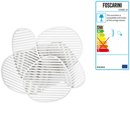 Foscarini - Nuage Wall and Ceiling Lamp, white