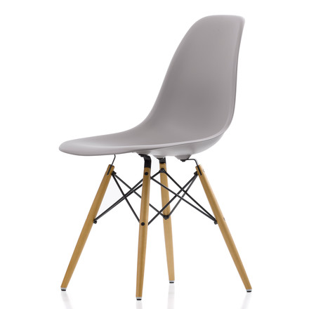 Vitra - Eames Plastic Side Chair DSW, grey - single image