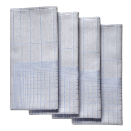 Hay - S&B Napkin Double Grid, blue - 4er-Set, single image