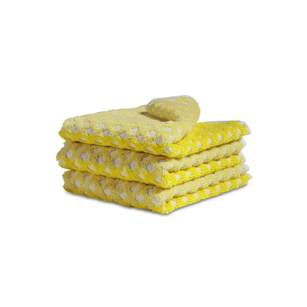 Hay - face cloth, autumn yellow, single image