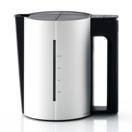 Jacob Jensen - Water kettle, 1,2 L, Alu matt / black