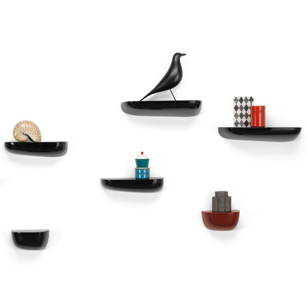 Vitra - Corniches, Group black, with Eames Housebird
