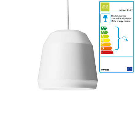 Mingus Pendant Lamp P1 by Lightyears in White