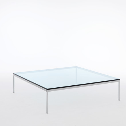Knoll - Florence couch table, with glass top